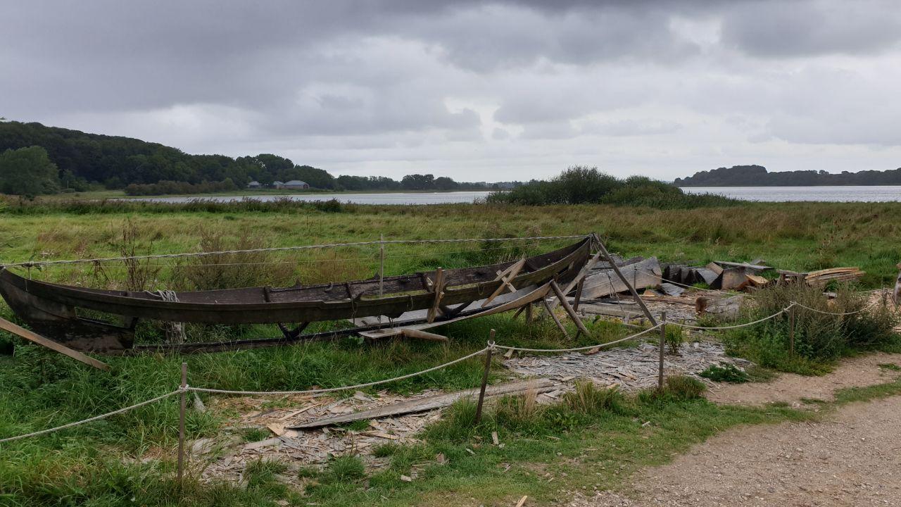 Wikingerboot im Bau