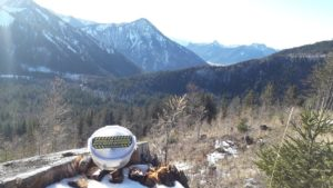 Cache in den Bergen