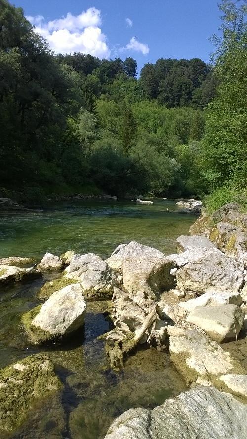 Idyllisches Plätzchen am Fluß, Copyright @Der Windling
